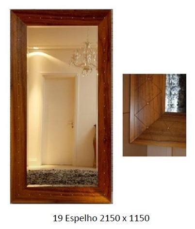 3PC19_Espelho com Moldura em Madeira_Chanfrado e Bisotado