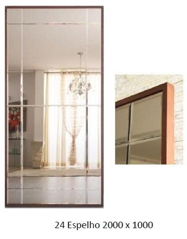 3PC24_Espelho Decorativo com moldura fina em madeira_Bisotado