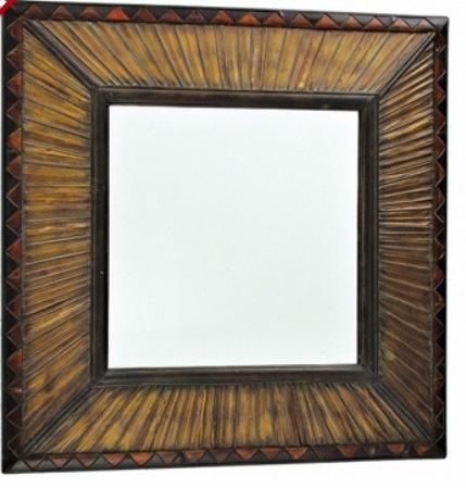 38 Espelho de Bambu quadrado