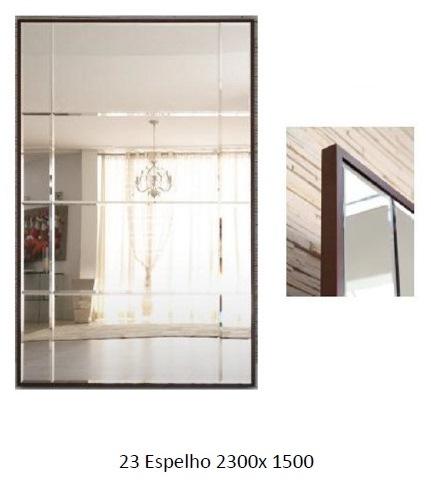 3PC23_Espelho Decorativo com moldura fina em madeira_Bisotado