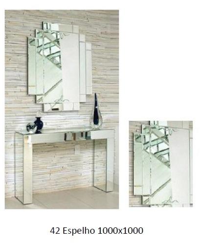 3PC42_Espelho Decorativo com desenhos irregulares