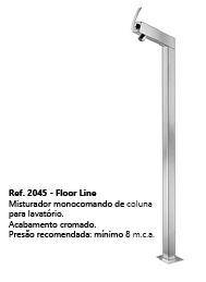 Rubinettos Floor Line Mist Banheira