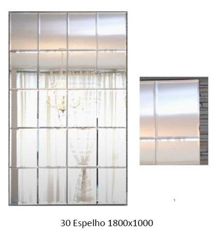 3PC30_Espelho_Decorativo_com_moldura_em_madeira_várias_linhas_bisotadas