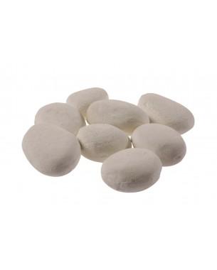 Pedra de Cerâmica Branca Seixos para Lareira / R$ 199
