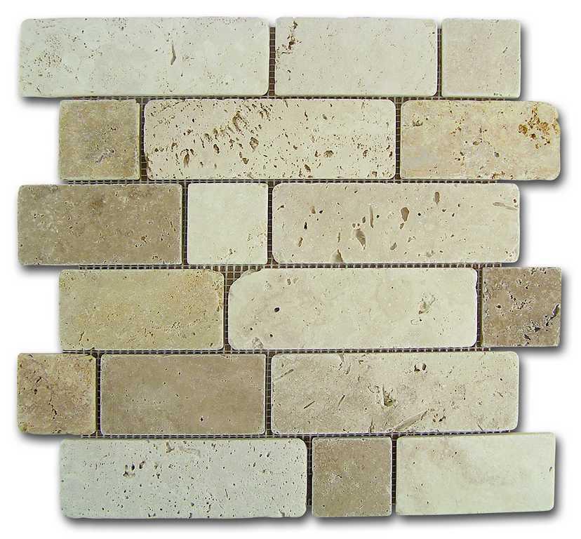DUNE mosaico travertino brick