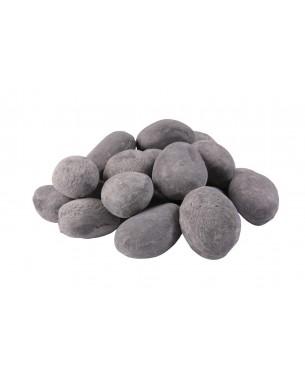Pedra de Cerâmica Cinza Seixos para Lareira / R$ 289