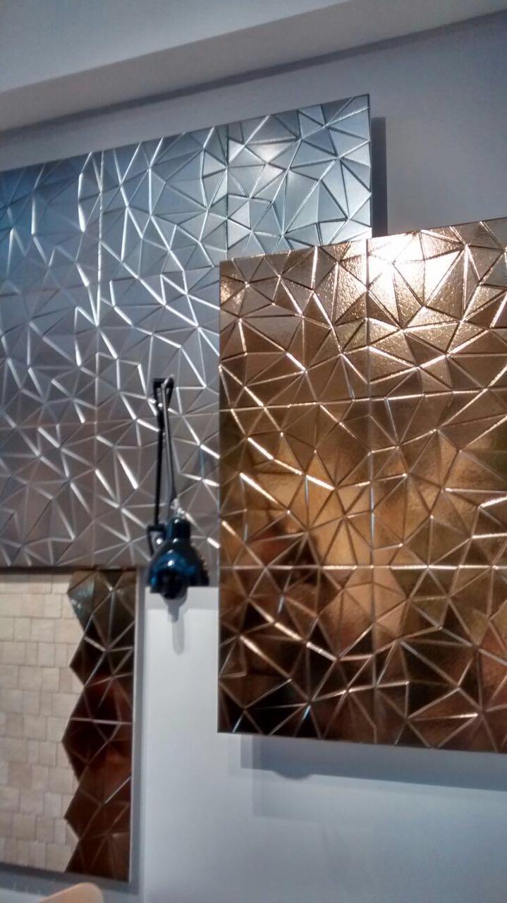 Concept Triangoli 3D Oro_40 x 40 cm