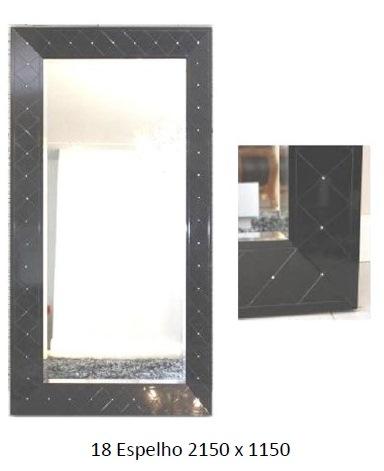 3PC18_Espelho com Moldura Preta Chanfrada e Bisotada