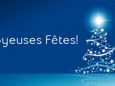 Joyeuses fêtes de fin d'année à tous !