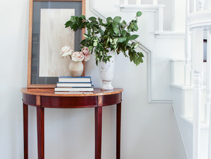Creating an entryway in a small space