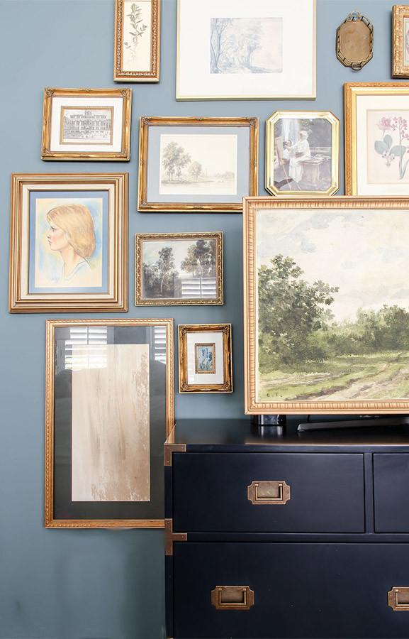 DIY Samsung Frame TV gallery wall