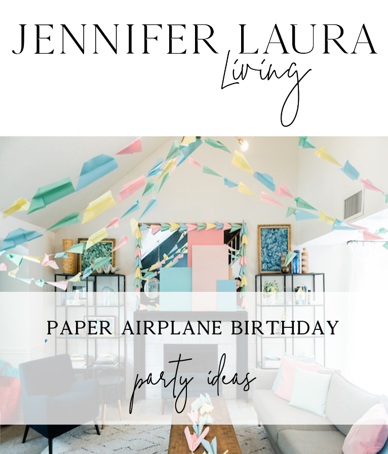paper airplane birthday party ideas