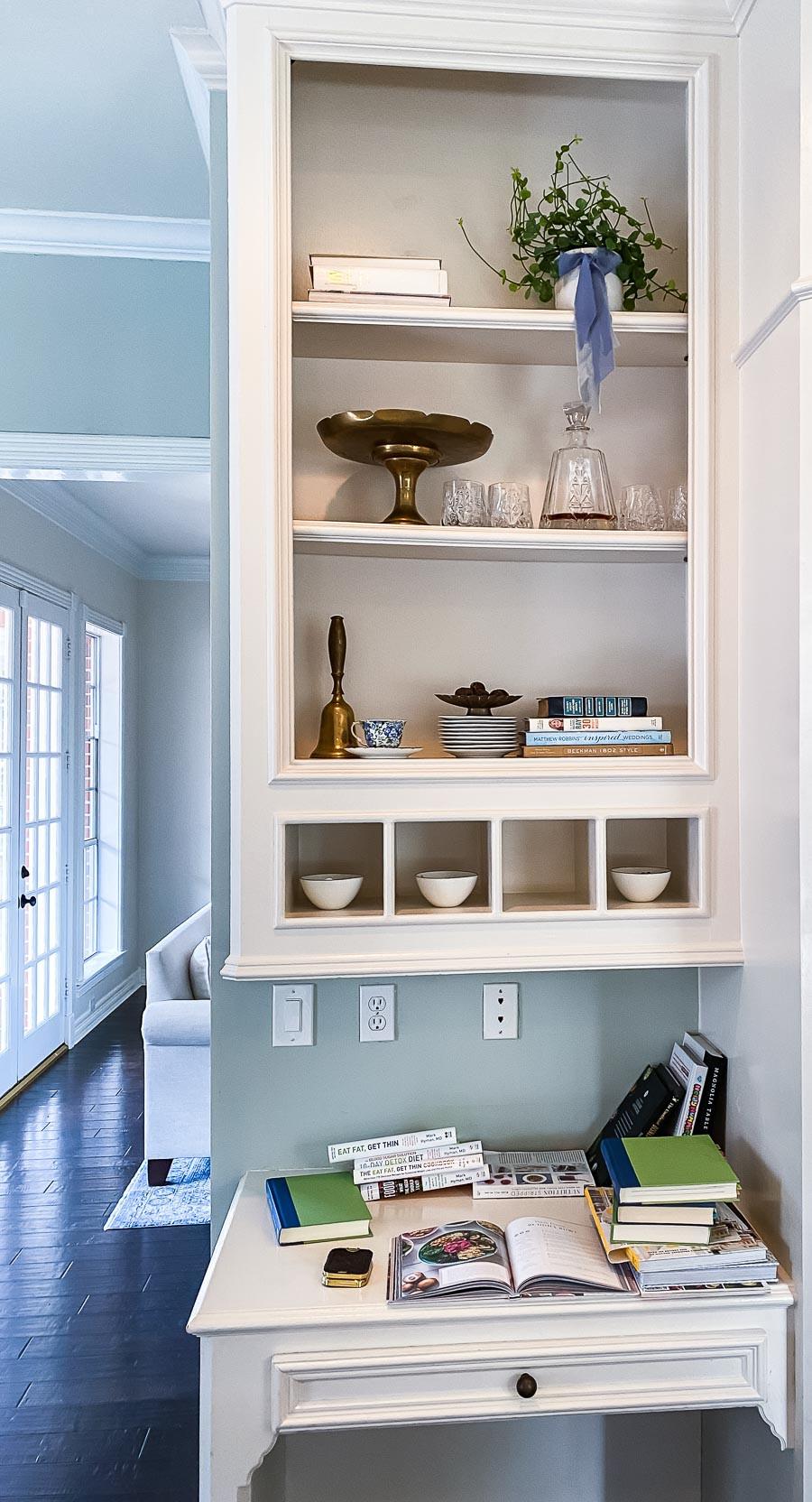 kitchen built in shelf before