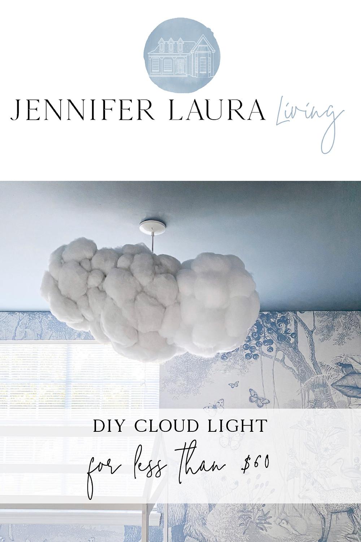 DIY cloud light fixture