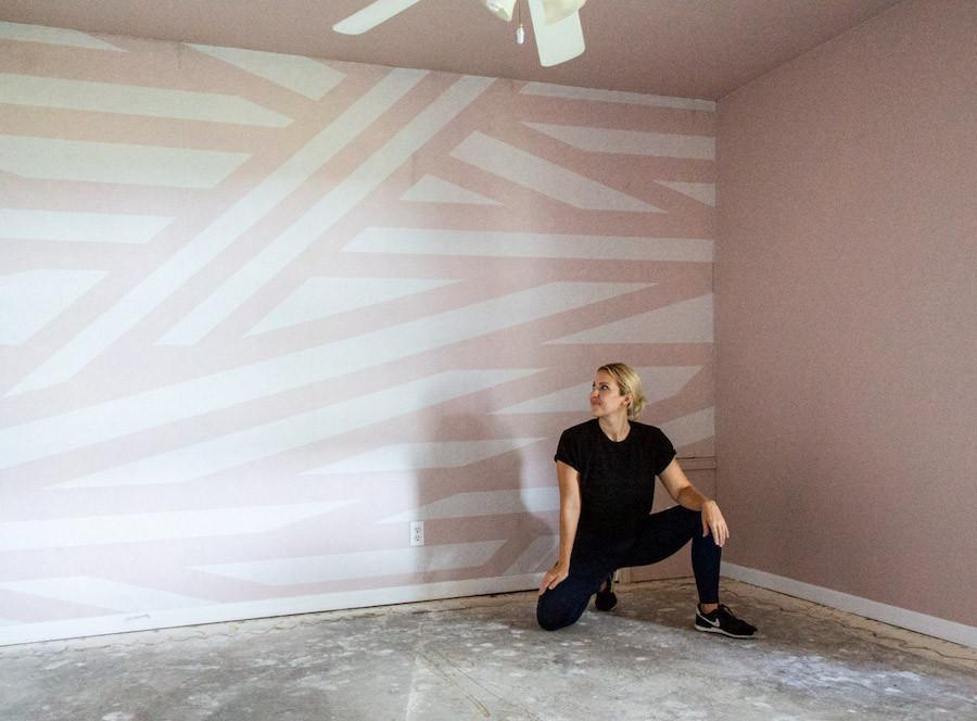 rebel walls sailors sea pink wallpaper install