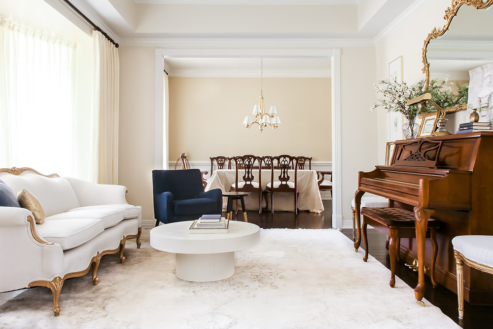 grandmillenial living room piano