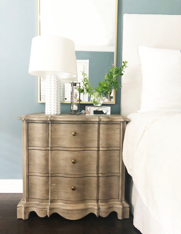 styled traditional nightstand