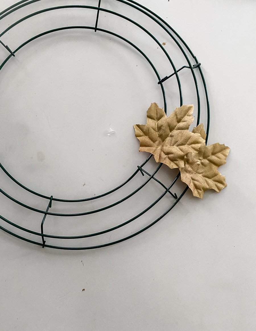 DIY gold Christmas wreaths