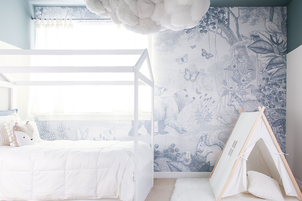 blue woodland kids room