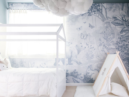 Lincoln's Room Reveal- A Blue Woodland Themed Big Boy Room
