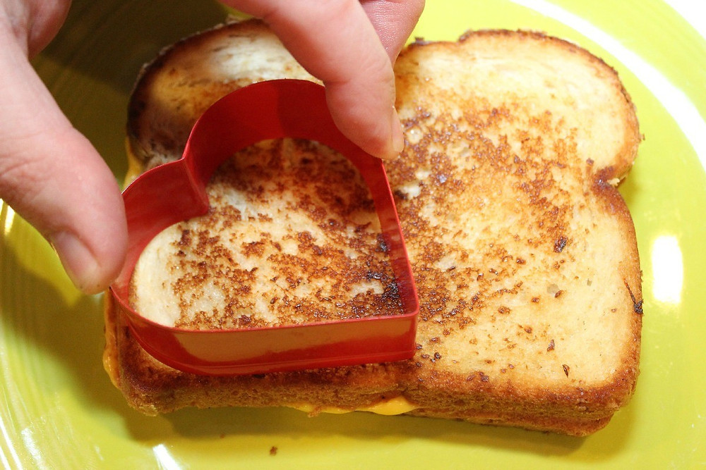 at home summer camp- grilled cheese in fun shapes