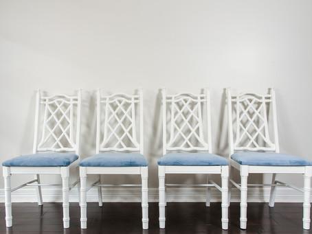 Quick Breakfast Nook Chair Refresh #StyleItNow