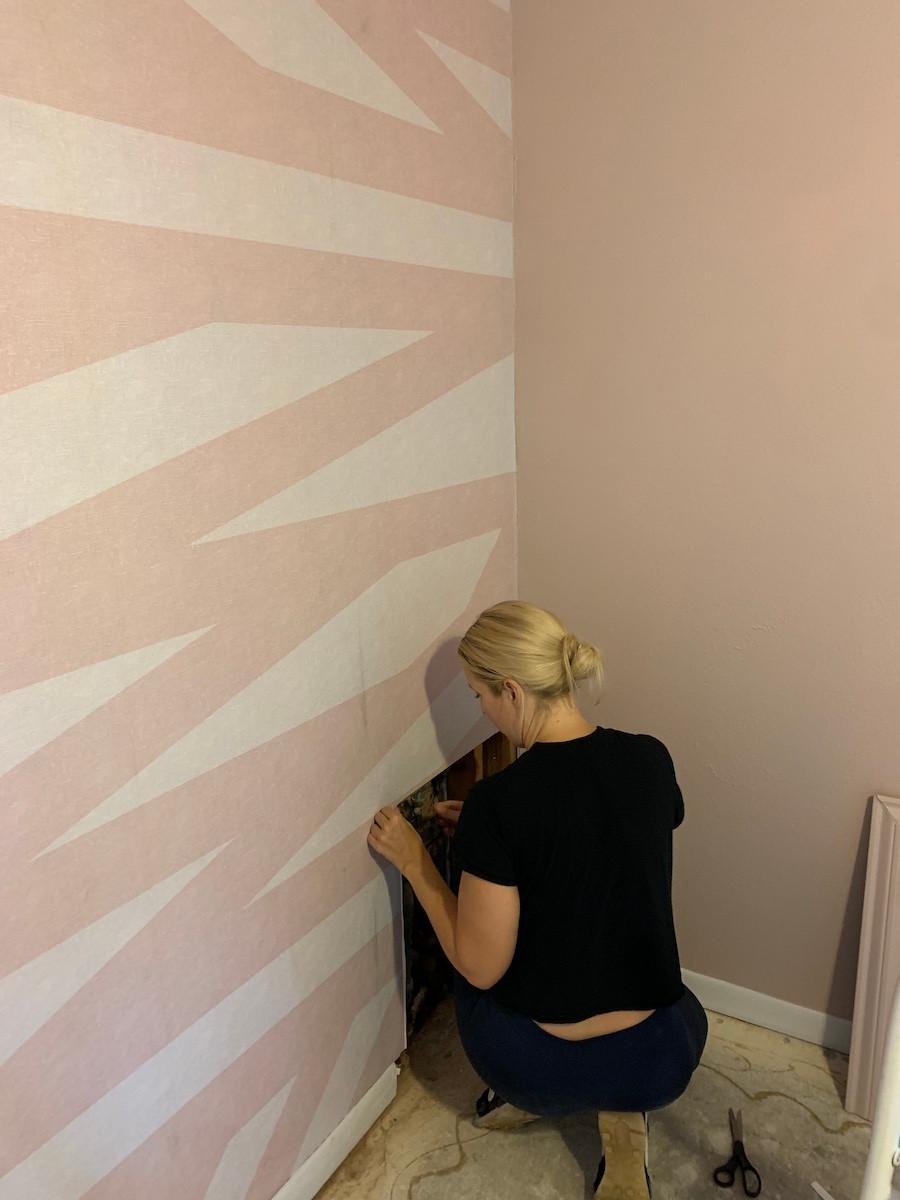rebel walls sailor sea pink wallpaper install