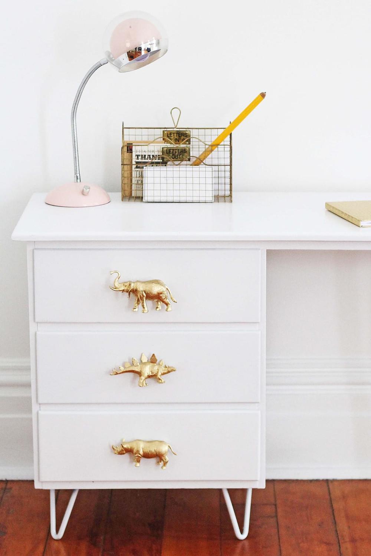 gold animal drawer pulls
