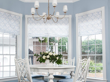 A Traditional Blue Breakfast Nook