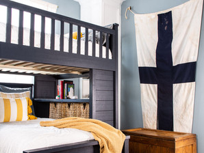 Phoenix's Room- A Kid's Pirate Inspired Bunk Room