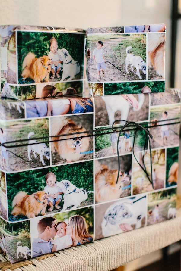 custom wrapping paper Puppy Dog Birthday Party Ideas