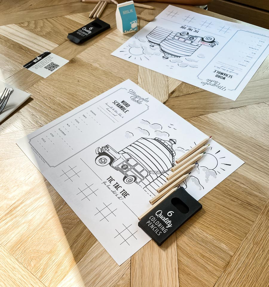 Magnolia Table kids coloring page, Magnolia Market and Silos trip planning information, how to plan a trip to magnolia