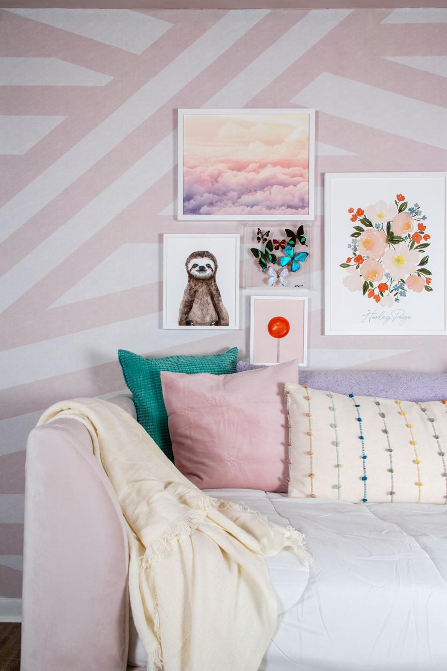 tween girl dreamy pink cloud gallery wall
