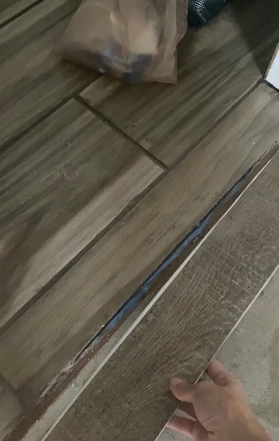 DuraDecor roughcut lumber sienna, luxury peel and stick vinyl