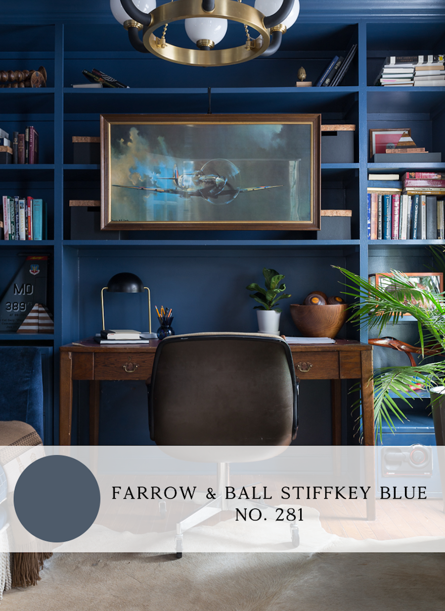 the best blue paint colors for interiors, farrow and ball stiffkey blue