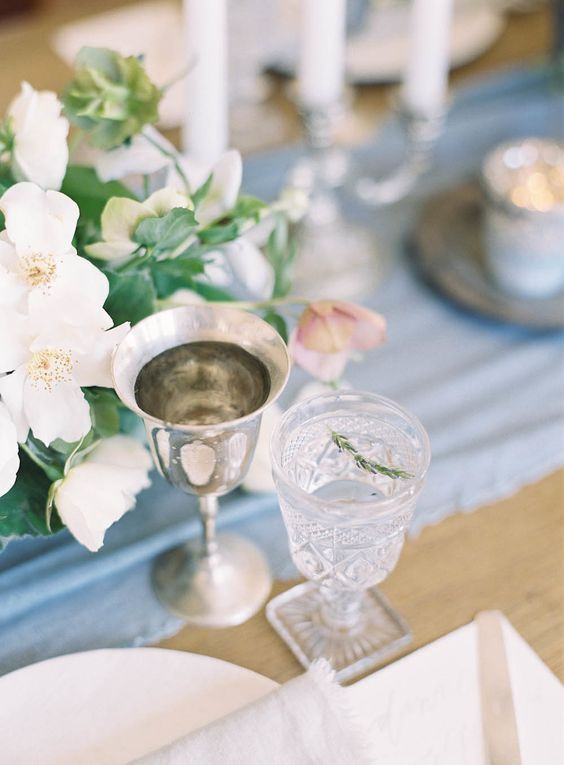 thanksgiving place setting blue
