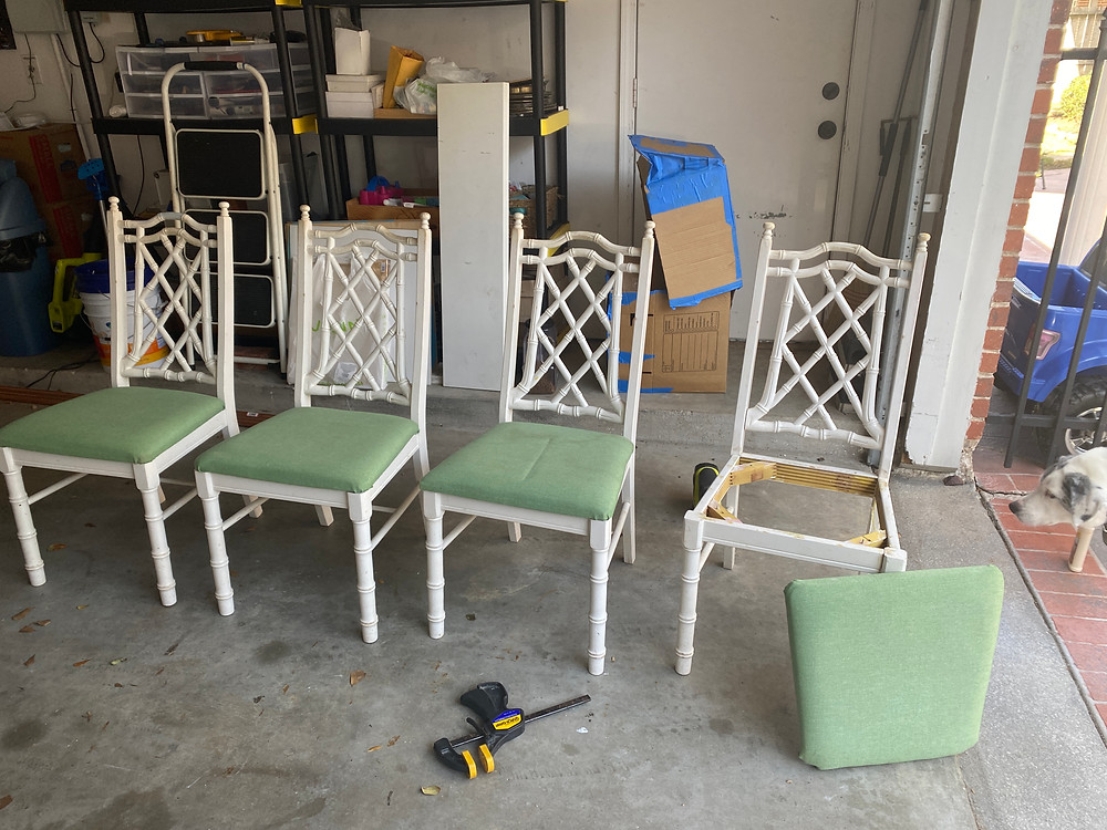 chippendale chinoiserie bamboo chairs