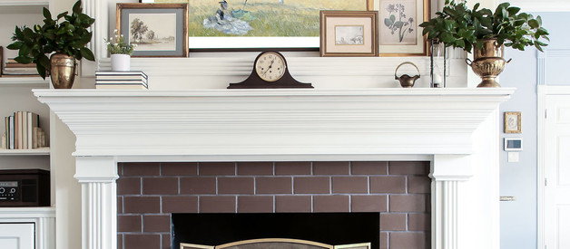 Style a Fireplace Mantle in 4 Easy Steps (with a TV above it!)
