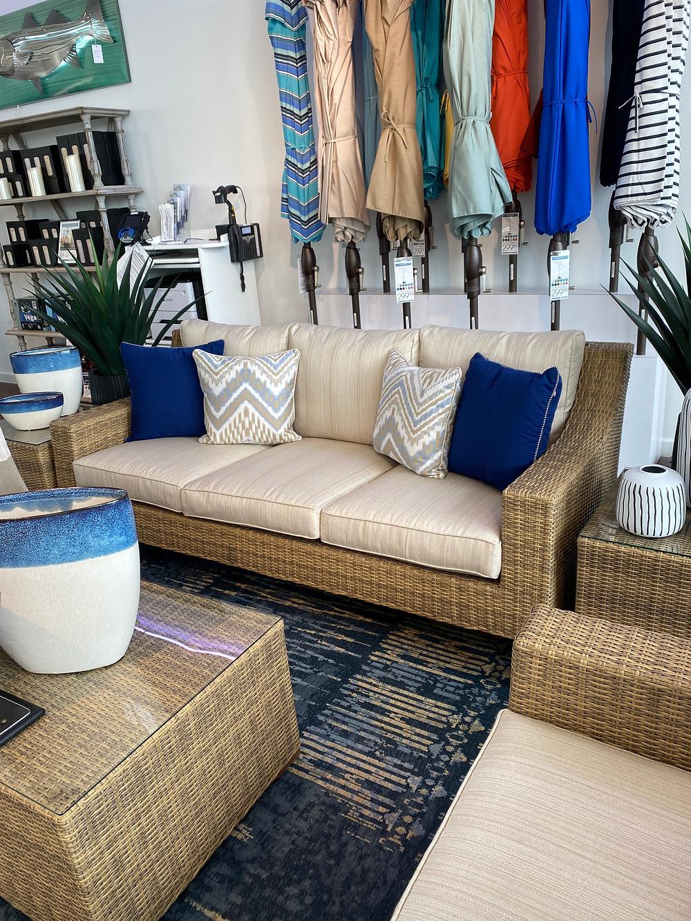 rooms to go patio southport tan outdoor sofa