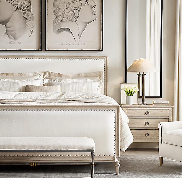 traditional and modern bedroom design restoration hardware