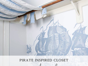 A Cozy Pirate Inspired Closet Reading Nook