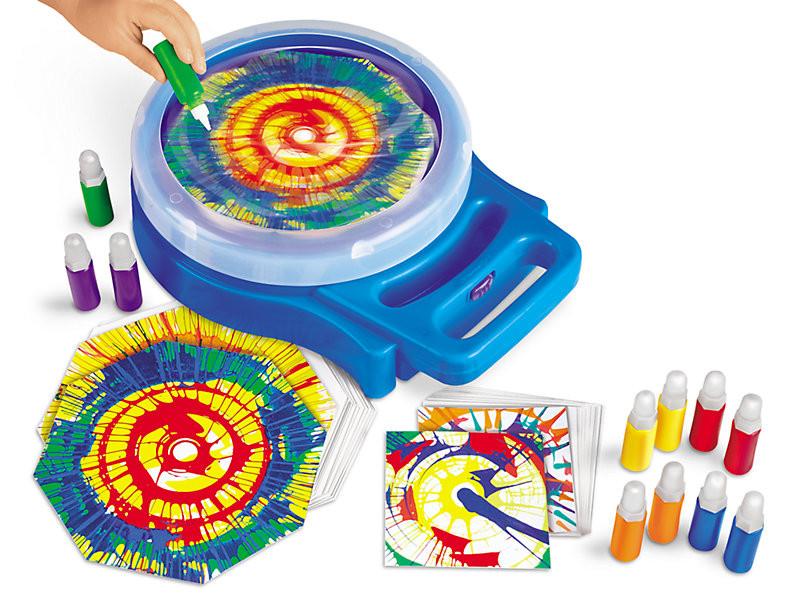 at home summer camp- spin art