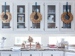 DIY Gold Wreaths (and Christmas in the Kitchen)