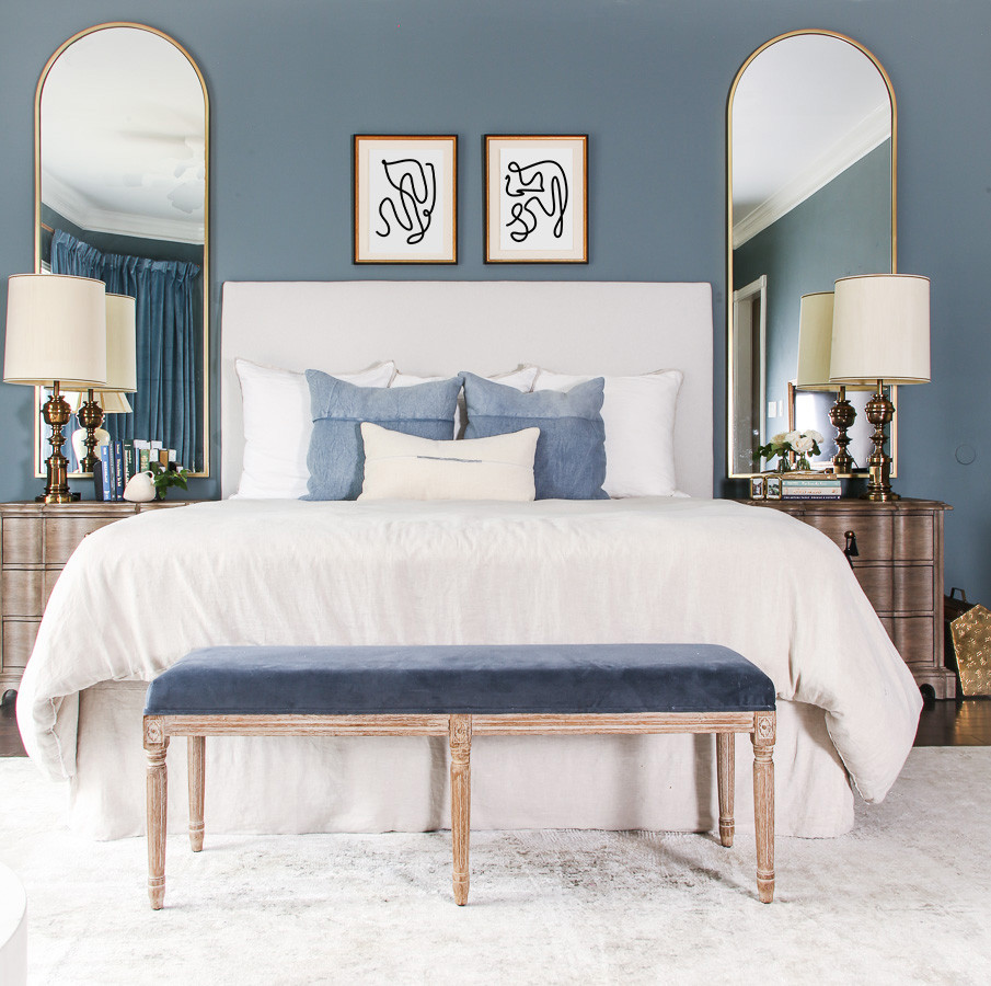grandmillenial bedroom, farrow and ball de nimes