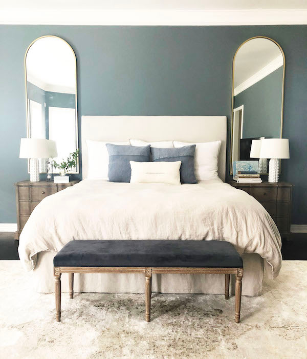 modern traditional master bedroom design