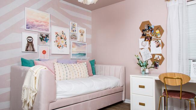 My niece Harley's Dreamy Pink Room Reveal!