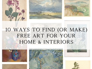 10 ways to create (or find) free art for your home and interiors
