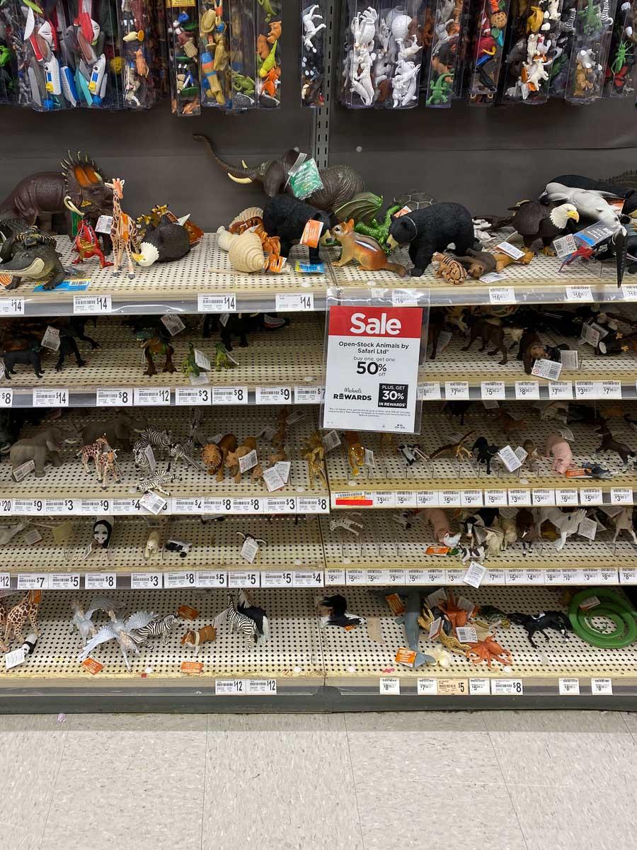 michaels animal figurines