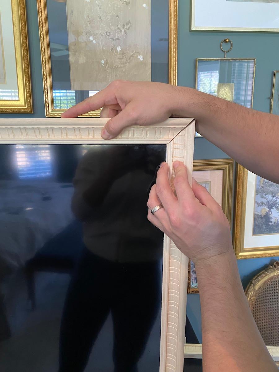 placing a frame around a tv