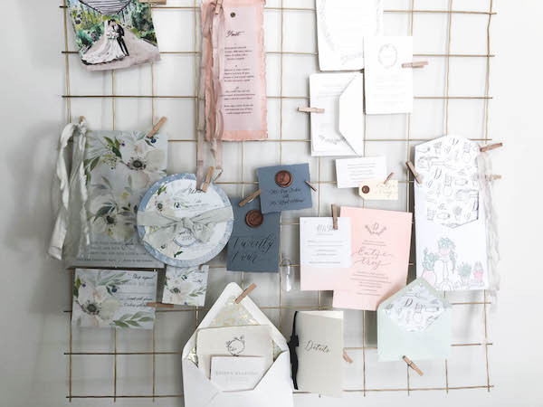grandmillenial girly office space design styled pin board